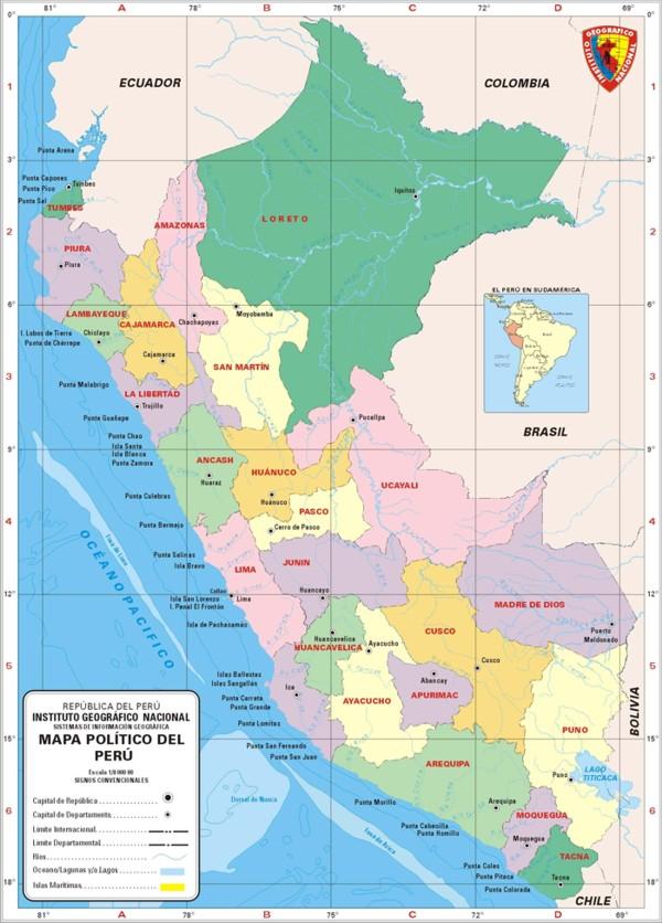 lista el mejor y original mapa politico