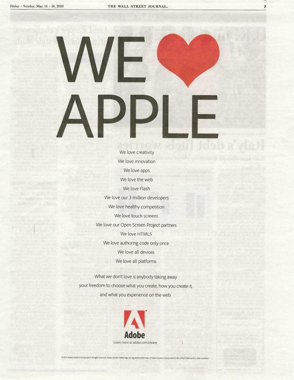 """""""Amamos Apple (...) Pero no amamos que nos quiten la libertad de elegir qué crear, cómo crear y nuestras experiencias en la web"""""""